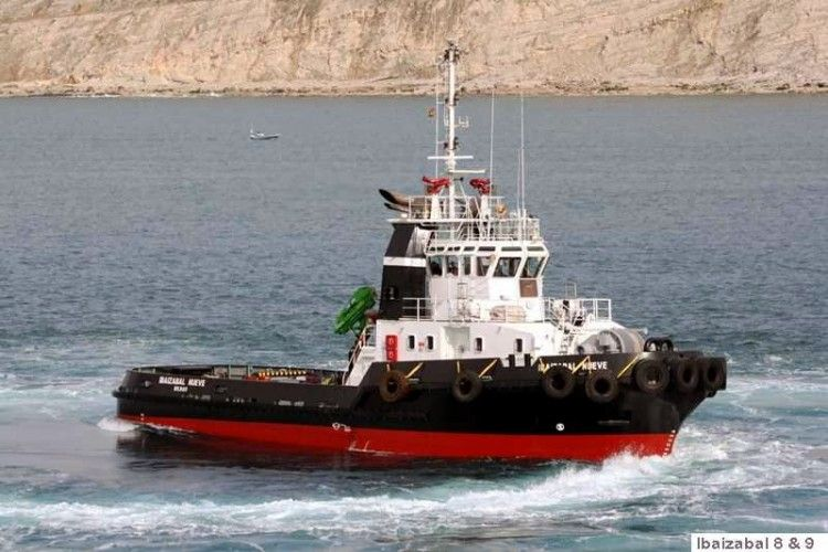 """Imagen del remolcador """"Ibaizábal Ocho"""", en el que se produjo el fallecimiento del tripulante de máquinas"""