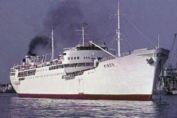 """El buque """"Minos"""", visto por la amura de estribor"""