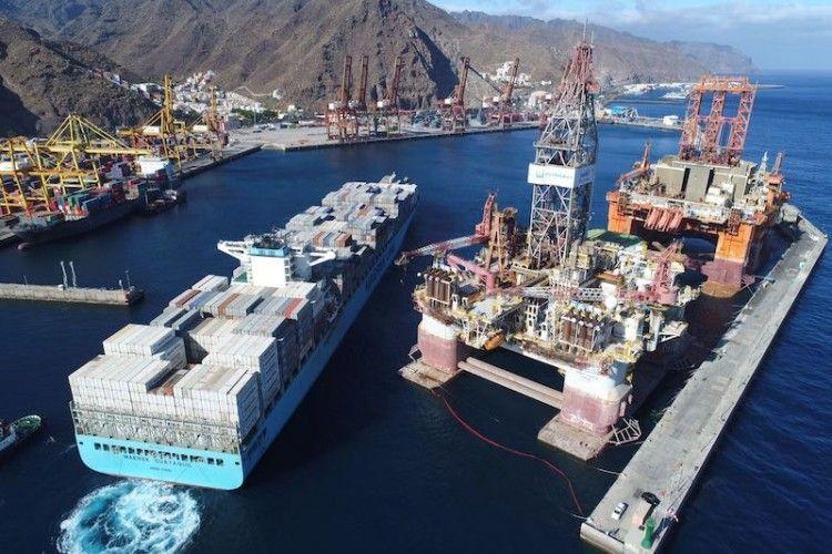 Maersk, de momento, realiza sus transbordos en su terminal de Tánger Med
