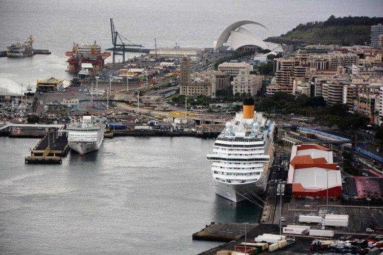 Panorámica del puerto de Santa Cruz de Tenerife