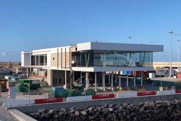 Panorámica de la nueva terminal del Grupo Armas-Trasmediterránea en Las Palmas