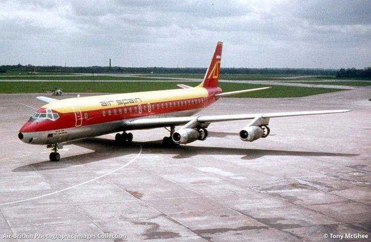 """Douglas DC-8-21 de Air Spain (EC-BZQ) """"Isla de Gran Canaria"""""""