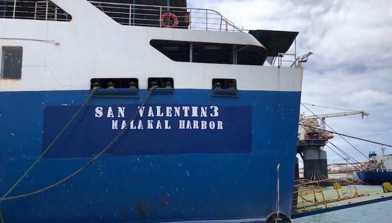 El buque ha sido abanderado en las Islas Palao