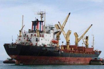 """Thor Star"", ex ""Bahía de Manzanillo"", en aguas de Tailandia"