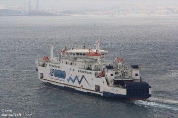 """El ferry egipcio """"Amman"""", en aguas de la bahía de Algeciras"""