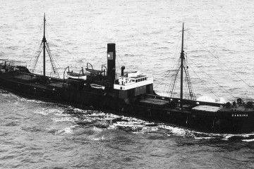 """El vapor """"Candina"""", navegando por el canal de la Mancha"""