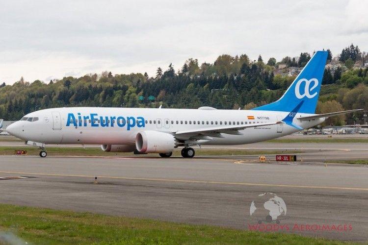 Este es el primer Boeing B-737 Max8 de Air Europa