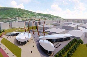 Imagen de cómo quedará la nueva zona comercial y lúdica del puerto de Pasaia