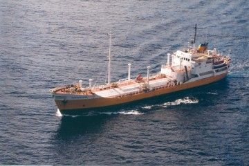 "Estampa marinera del butanero ""Guanarteme"""