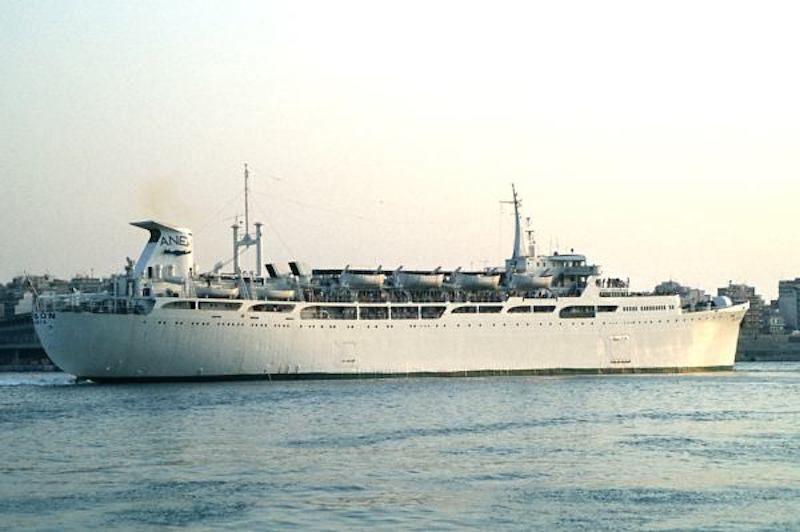 """El ex petrolero transformado en el buque """"Kydon"""""""