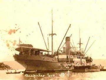 """Estampa marinera del buque """"Nueva Esparta"""""""