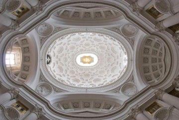 Interior de la cúpula de la iglesia de San Carlo Alle Quattro Fotane. Roma (1638-1641)