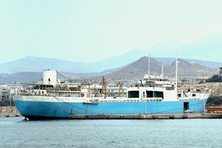 """El buque """"Zakros"""", en su apariencia final"""