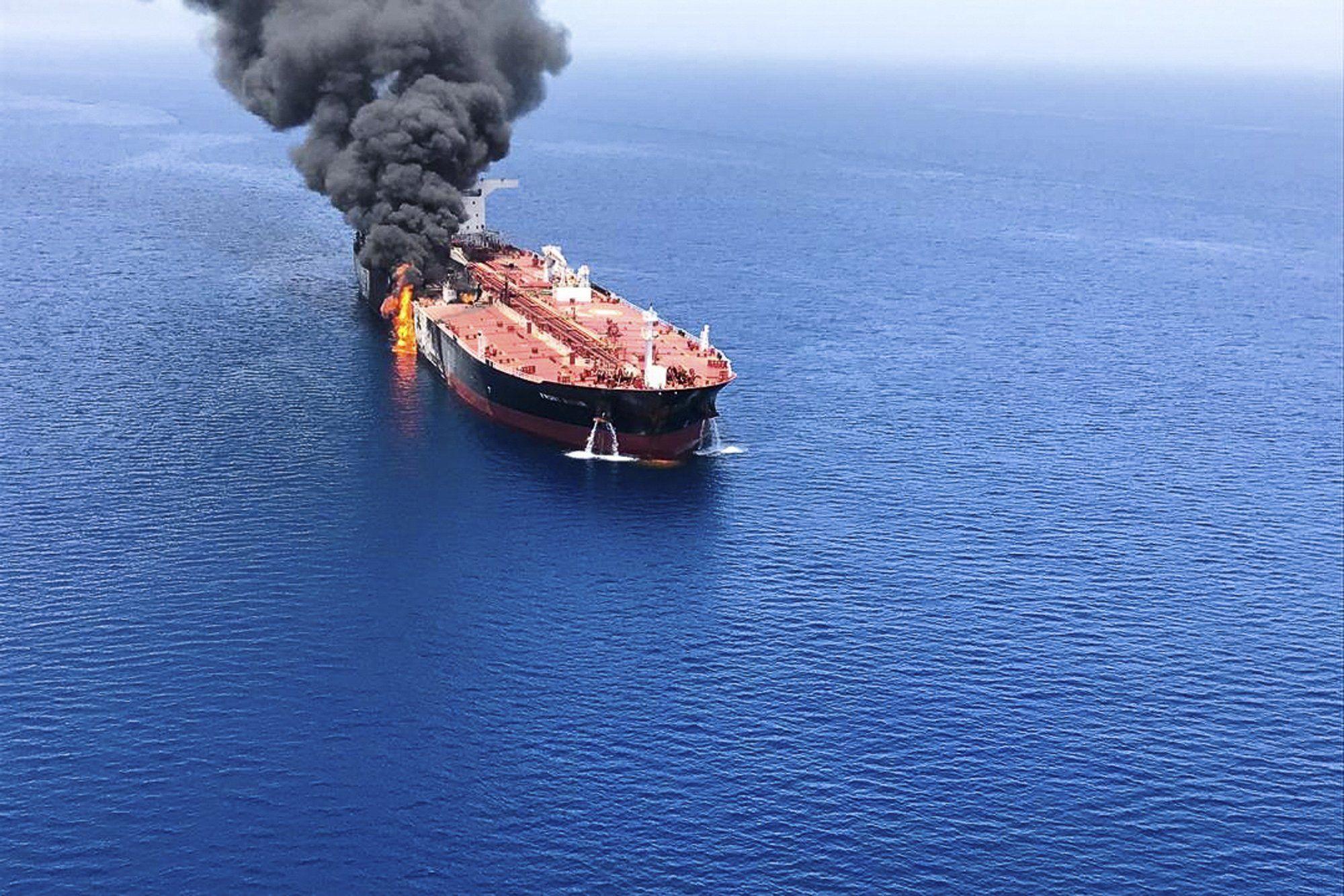 El ataque se produjo ayer a 14 millas de la costa de Irán