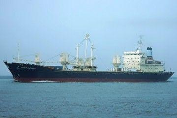 """Imagen del buque """"Family Anthony"""", que luego se llamó """"Guadalupe I"""" en su etapa en Trasatlántica"""