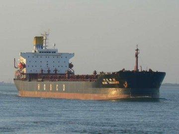 """Estampa marinera del bulkcarrier """"Hebei Treasure"""", en su penúltima etapa"""