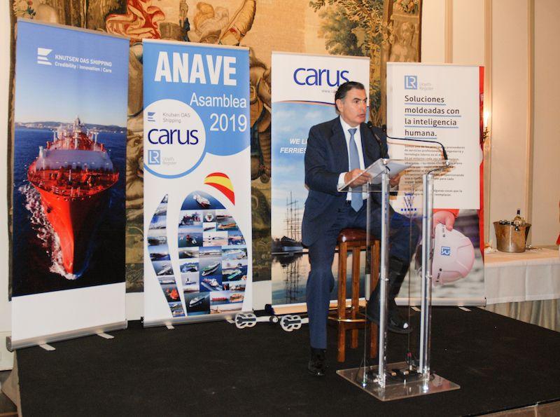 Alejandro Aznar, presidente de ANAVE, durante su intervención
