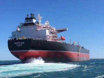 """El petrolero """"Monte Ulía"""" ha comenzado hoy sus pruebas de mar"""