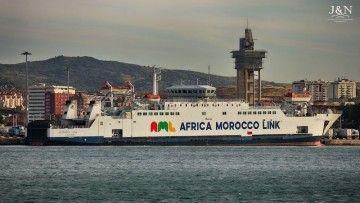 """El ferry """"Amman"""" se encuentra atracado en el puerto de Algeciras"""