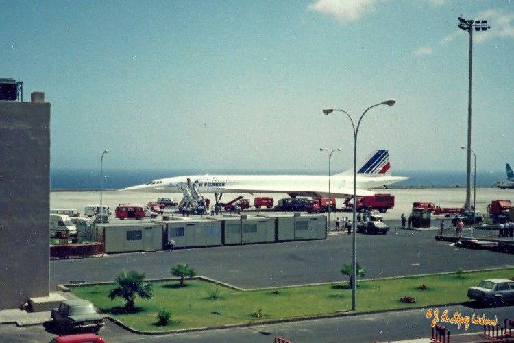 El avión Concorde de Air France, en el aeropuerto Tenerife Sur
