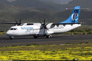 ATR-72 de Air Europa Express en el aeropuerto Tenerife Norte