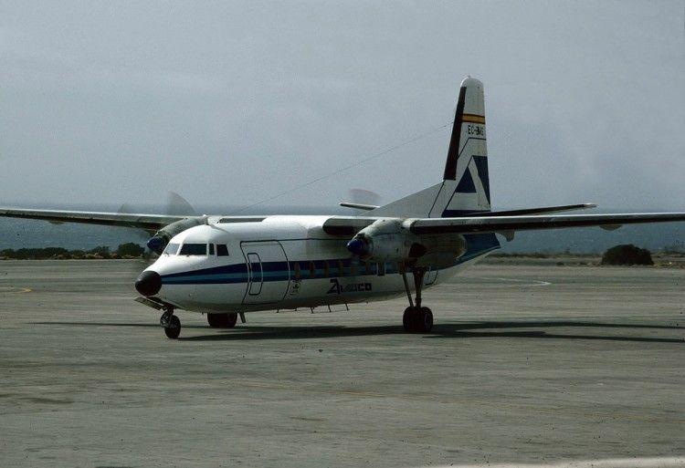 Fokker F27 de AVIACO EC-BMS