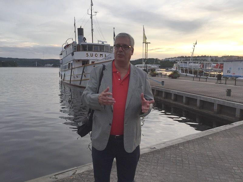 El autor, en el embarcadero del lago Päijänne
