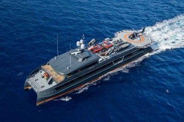 "Panorámica aérea del catamarán ""Hodor"""