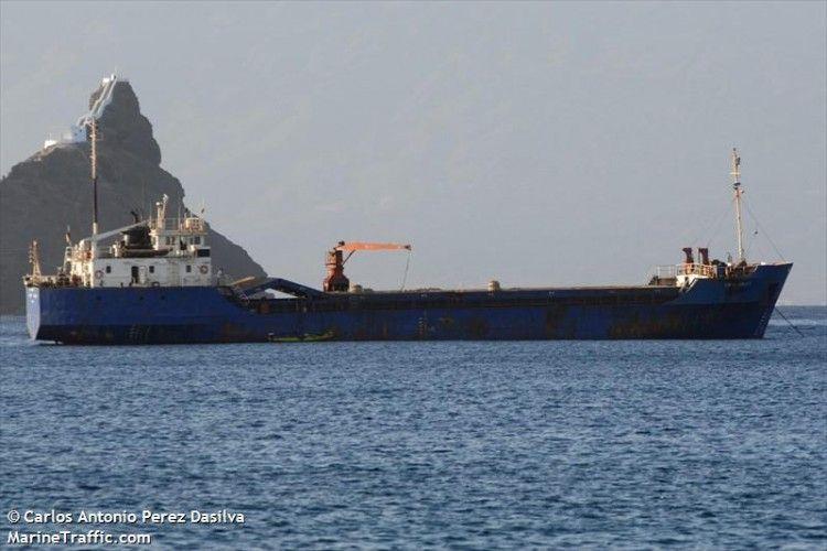 """Este es el buque """"Laura Crolett"""", que ha estado en apuros en Cabo Verde"""