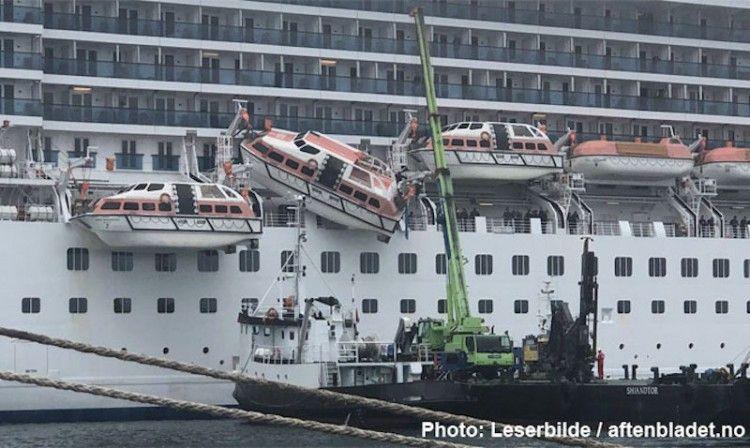 """Esta es la imagen resultado del desafortunado incidente en el buque """"Costa Mediterránea"""""""