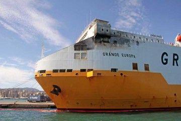 "El buque ""Grande Europa"" entró de arribada en Palma de Mallorca"