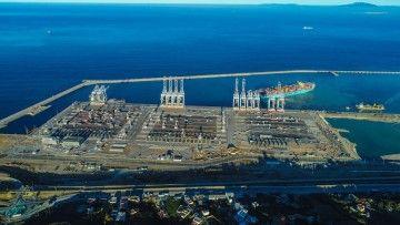 Panorámica de la nueva terminal de APM en Tánger Med