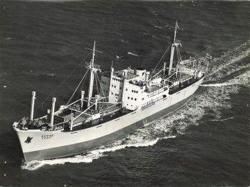 """Estampa marinera del buque """"Sucre"""", en pruebas de mar"""