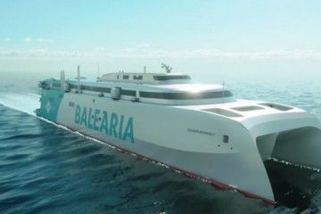 Este será el aspecto exterior del catamarán de Balearia