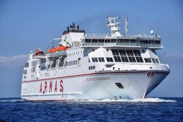 """El ferry """"Volcán de Taburiente"""" supera los 21 nudos de velocidad sostenida"""