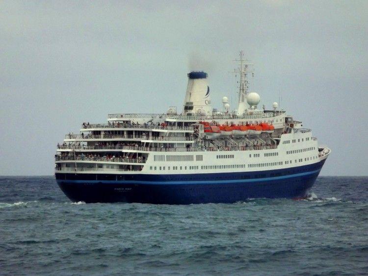 """Estampa marinera del buque """"Marco Polo"""""""