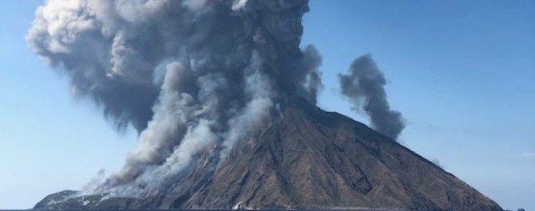 La explosión del volcán Strómboli causó un gran estruendo