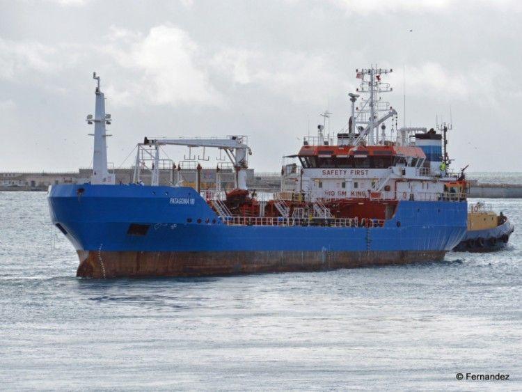 """El petrolero """"Patagonia 100"""" está fletado por Peninsula petroleum"""
