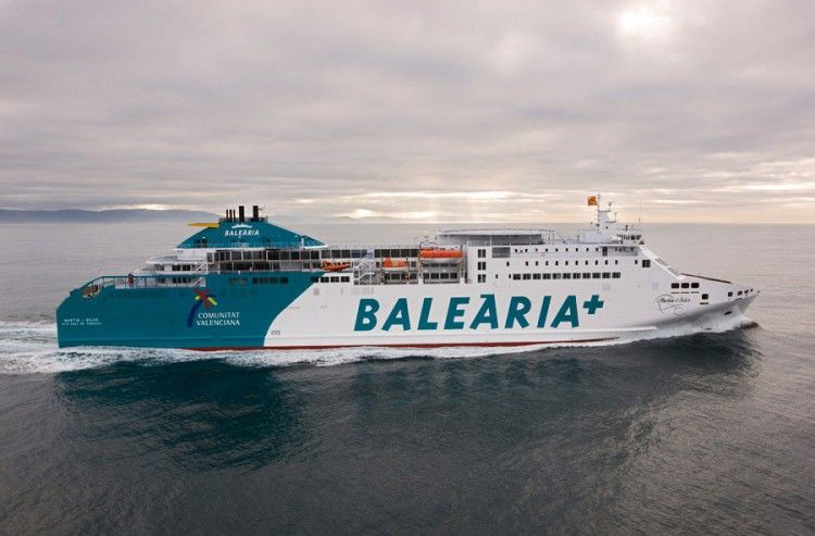 "Estampa marinera del ferry ""Martín i Soler"""