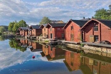 Las casas rojas de Porvoo están vinculadas al comercio de la ciudad