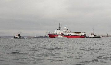 "El buque ""Aquila Explorer"", a su llegada a El Musel"