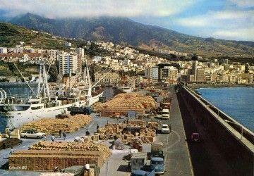 """Los buques """"El Priorato"""" y """"Plus Ultra"""", en el puerto de Santa Cruz de La Palma (1969)"""