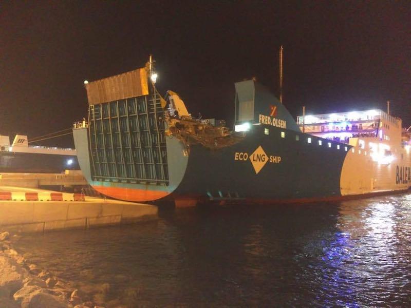 El golpe se produjo cuando aun no había amanecido en Tánger Med