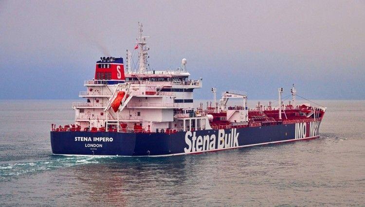 """Imagen del petrolero británico """"Stena Impero"""""""