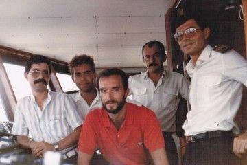 """Foto de familia un día de relevo de 1986 en el puente del segundo """"Benchijigua"""""""