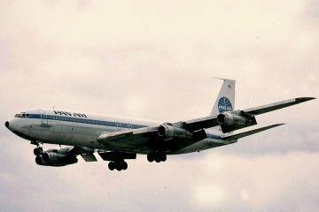 Pan Am fue el primer clliente del avión Boeing B-707