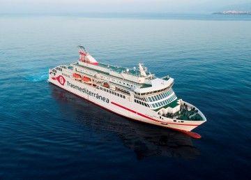 """Estampa marinera del ferry """"Villa de Teror"""", un hito en la historia del Grupo Armas Trasmediterránea"""