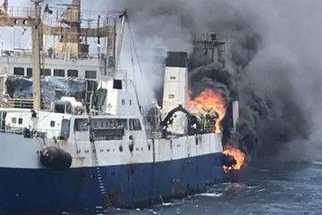 El fuego se ha producido en la zona de popa del buque
