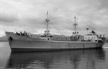 """El buque """"Lago Como"""", en el puerto de Santander"""