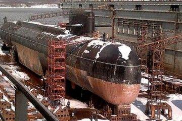 El submarino clase Losharik, en dique seco